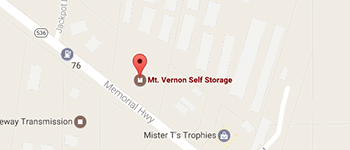 Mt. Vernon Self Storage Santa Cruz Map and Directions