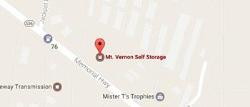 Mt. Vernon Self Storage Santa Cruz Map and Directions